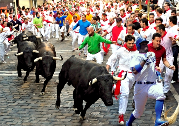 Carl Running of the Bulls